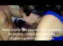 Esposa gostosa fazendo chupeta pro marido - OVELHOTARADO